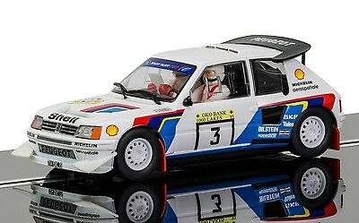 C3751 Scalextric Slot Rally Car Peugeot 205 T16 Salonen & Harjanne Gift New UK