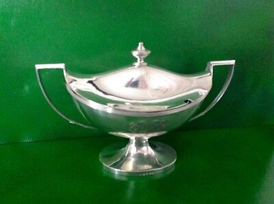 Georgian Antique English Sterling Silver Sauce Tureen Solomon Hougham 1792
