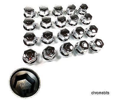 60 Pcs X 32 Mm Wheel Nut Cover Chrome For Caps Mercedes Man Daf Scania Volvo