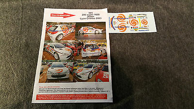 Decals 1/43 Peugeot 206 S 1600 Adam 2003