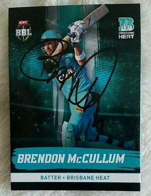 NEW! BRENDON MCCULLUM SIGNED IN PERSON BIG BASH BBL CARD GENUINE Tap n Play