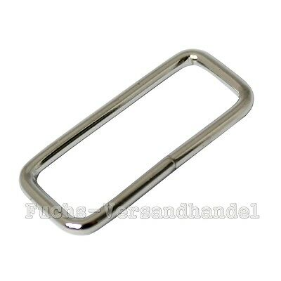 50 Pcs Loops 20mm 10 2 mm Loop Ring Steel Metal nickel-plated arc shaped