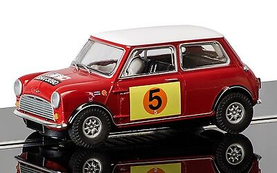 C3747 Scalextric Slot Car Red & White Mini Cooper S - RAC Rally 1966 Hill & Boyd