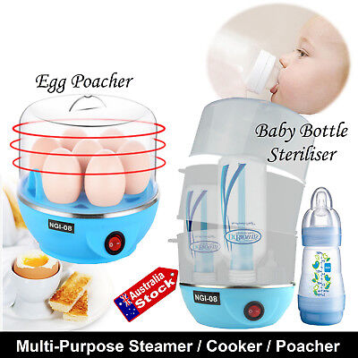 Multi-Function Automatic Electric Steamer 7 Eggs Cooker & Baby Bottle Sterilise