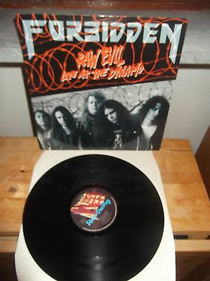 """FORBIDDEN """"Raw Evil - Live At The Dynamo"""" 12"""" UK 1989 UNDER ONE FLAG"""