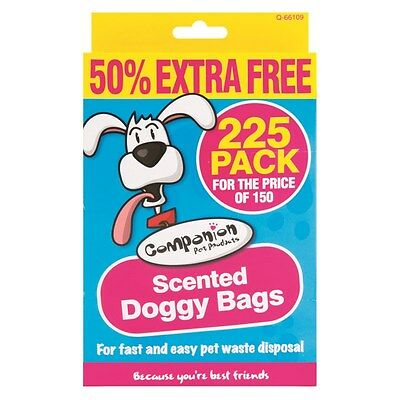 DOGGY BAGS -Scented Pet Pooper Scooper Bag Dog Cat Poo Waste Toilet Poop 225bags