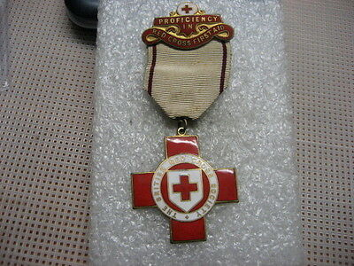 British Medal FOR PROFICIENC,RED CROSS FIRST AID,ww1
