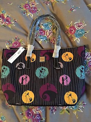 Disney Dooney And Bourke Nightmare Before Christmas Shopper Bag New Tagged.