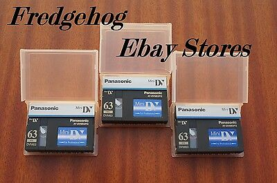 3 x PANASONIC DVM63PQ PRO MINI DV DIGITAL VIDEO CAMCORDER TAPES / CASSETTES
