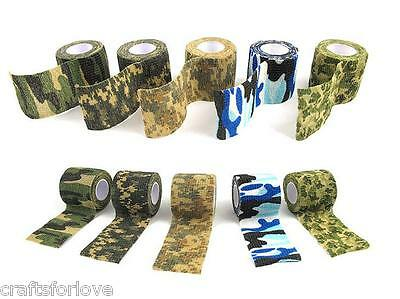Self-adhesive Non-woven Camouflage WRAP RIFLE GUN Hunting Camo Stealth Tape