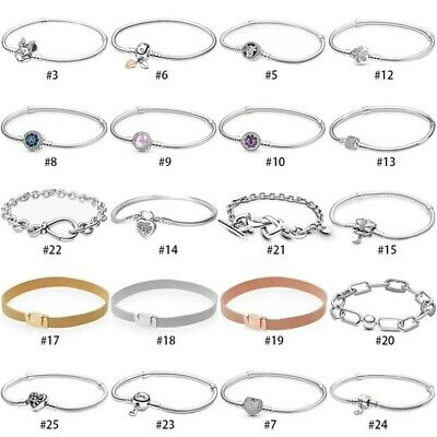 Argento bracciale Bracelet bangle For Sterling European 925 Silver charms Beads