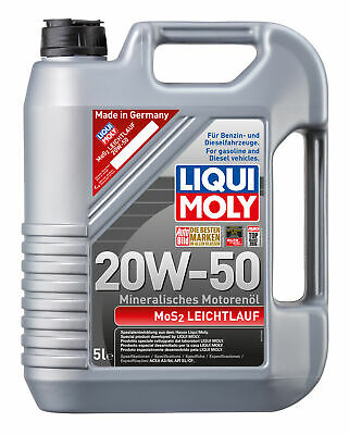 LIQUI MOLY Mos2 Engine Oil 20W-50 5L