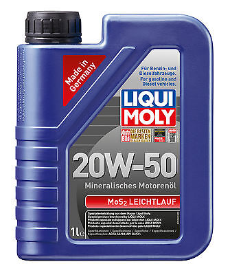 LIQUI MOLY Mos2 Engine Oil 20W-50 1L