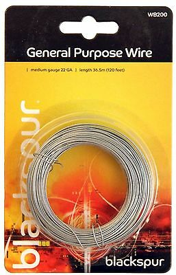 Blackspur General Purpose Wire Medium gauge 22GA - Length 36.5m 120ft