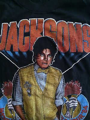 MICHAEL JACKSON / The Jacksons Vintage 1984 Victory Tour Muscle Shirt (Large)