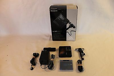 SONY HI-MD MiniDisc MZ-M10 with Accessories and Box