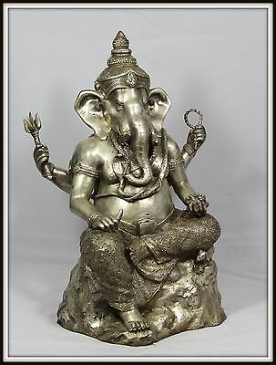 "Incredible!  ""Large Nickel Bronze Ganesha""  (17.5"" H x 10"" W x 10"" D) from India"