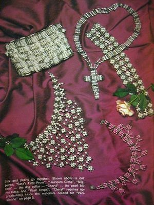 vintage SAFETY PIN JEWELRY pattern booklet beading beaded bib necklace clothing