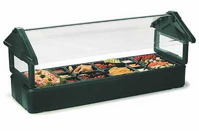 Carlisle 6600 4ft Table Top Salad Food Bar w/ Sneeze Guard