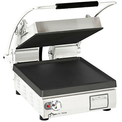 "Star PST14I Pro-Max 14"" Single Panini Grill Smooth Iron Plate No Timer"