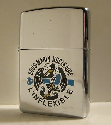 1994 French Navy Zippo Sous-Marin Nucleaire L'inflexible Nuclear Submarine