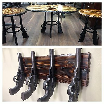 Aluminum gun furniture end table coffee table benches stools coat rack gun decor