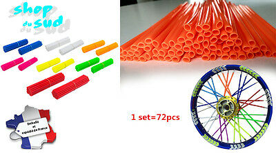 Spoke Skin Couvre Rayon Moto Cross Jante 10 Coloris 72 Pcs Recoupable Yz Kx Ktm