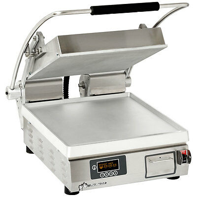 "Star PST14E Pro-Max Panini Grill Smooth Alum. Plates Single 10-3/8""x23"""