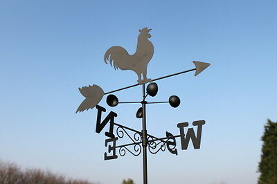 Weathervanes- Steel Cockeral Weathervane with Ground Spike and Wall Fixing
