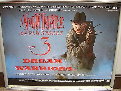 a nightmare on elm street 3 (ROLLED) quad cinema film poster
