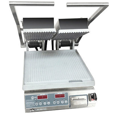 Star PGT14D Pro-Max Panini Grill Alum./Grooved Plates Electronic Control