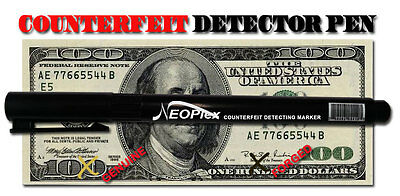 12 pk Counterfeit Money Detector Pen Marker Fake Retail Dollar Bill