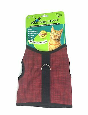 X-Large Crimson Cat Harness by Kitty Holster Exclusive to Net Pet Shops