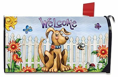 Studio M E9 4th July Outdoor 6.5x19in Mailbox Cover MailWrap Patriotic Puppies