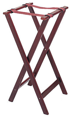 Update TSW-32 32in High, Cherry Wood Finish Tray Stand