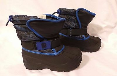 New Boys Toddler Athletech Touhy Winter Snow Boots Style 99450 Blue 199F-H lr