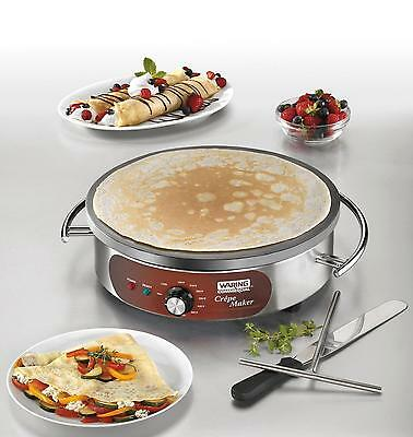 Waring WSC165B Countertop 16in Electric Crepe Maker w/ Spatula - 208/240V