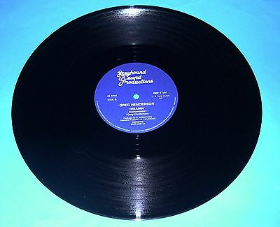 "Greg Henderson - Dreamin' 12"" (Greyhound records GRP T 101) 1982 RARE"