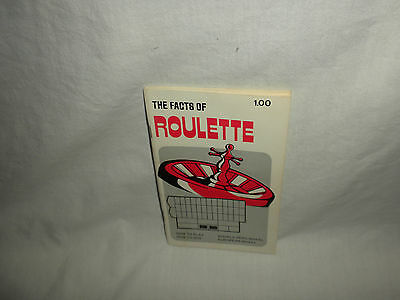 #9 VTG THE FACTS OF ROULETTE By: Walter Nolan PB Gambler's Book Club 1970