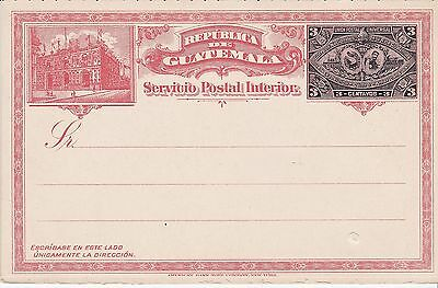 Postal and reply card, Guatemala, Higgins & Gage unlisted, 1897, intact, unused