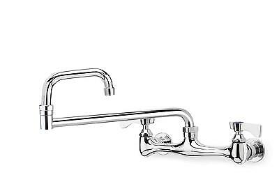 """Krowne Metal 18"""" Double Jointed Wall Mount Faucet 8"""" Center Low Lead - 12-818L"""