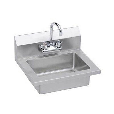 "Elkay Foodservice EHS-18X 18"" Economy Hand Sink Wall Mount with Gooseneck Faucet"