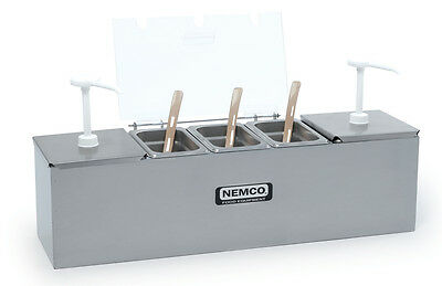 Nemco 88100-CB-* Hot Dog Condiment Bar Station with 2 - 3 QT. Pumps