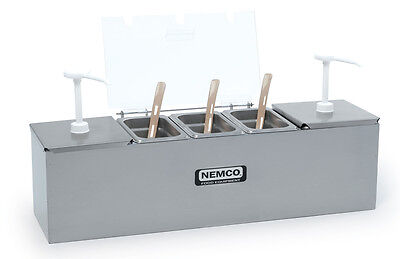 Nemco Hot Dog Condiment Bar Station With 2 - 3 Qt. Pumps - 88100-Cb-*