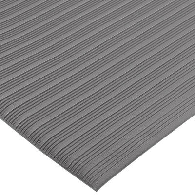 "San Jamar KM4360GY 3ft x 60ft Sponge Floor Runner 3/8"" Thick Vinyl Grey"
