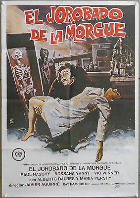 3WZ31 HUNCHBACK OF THE MORGUE PAUL NASCHY HORROR orig 1sh POSTER SPAIN