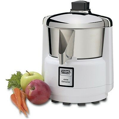 Waring 6001C Commercial Juice Extractor Stainless Bowl & Cover 3600 RPM