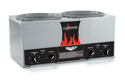 Vollrath 72028 Cayenne Twin 7 Quart Rethermalizer Stainless w/ Timer 120v