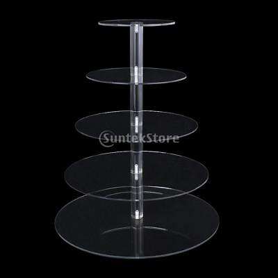 3-7 Tier Party Round Cake Stand Clear Acrylic Cupcake Party Display Holder