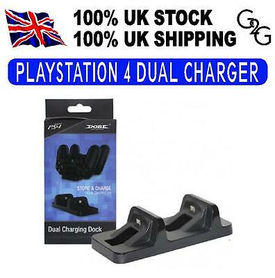 DUAL USB HUB Charging Stand Docking Station FOR PS4 Controller DOBE
